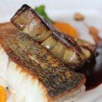 Fish with foie gras