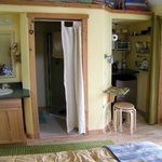 Kitchenette and bath entry