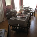 The dining room at the August Seven