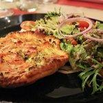 Smoked salmon quiche
