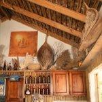Inside the bar at Marjorie's Cas En Bas