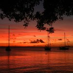 bonaire sunset outside my apt
