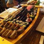 Mikasa Sushi, In a Boat.
