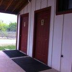 View from front door of Peach Room - Full Moon Inn (Restrooms)