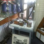display of memorabilia from Cowra P.O.W Camp