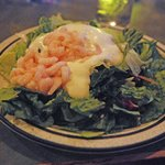 Generous shrimp salad