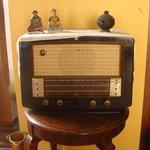 An old radio on display
