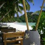 La plage aux abords du café des arts