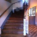 L'escalier qui ditribue les chambres