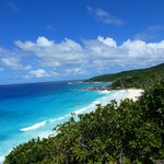 VIEW ON THE BEAUTIFUL BEACH OF PETITE ANSE AND GRANSE ANSE, IN APRIL 2013.