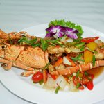Lobster with Chilli sauce