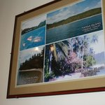 walls are decorated with pictures of different coron islands