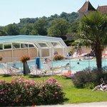 La piscine couverte et chauffée - Unique dans le Lot !!