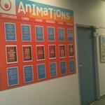 panneau d'affichage des animations