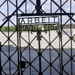 """Work makes you free"". The lie....  Dachau."