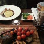 Mixed Grill and Tuna Steak