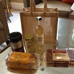 Scrummy local things in the bag.