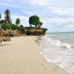 tidal beach with villa