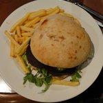 Large burger - expensive fast food version