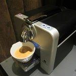 Nespresso machine in room