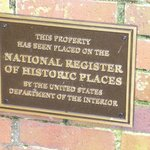 plaque for the property