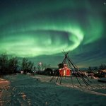 Elliptical Magnetism, Northern Lights over Abisko Mountain Lodge