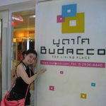 The entry to Budacco Hotel
