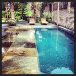 swimming pool, view from the studio private outside space