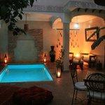 patio et piscine