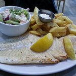 Pan fried 12-16oz cod fish with chips and salad for just £10.95