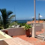 View from the roof, Indian ocean in the background
