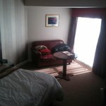Excuse the room its our mess and iPhone photo so not great but room was a fantastic size.