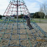 The climbing frame!