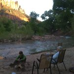 Virgin River sandy beach