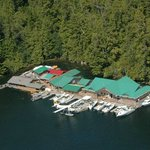 Aerial View of Harrison's Cove Lodge