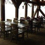 The upstairs restaurant - beautiful view