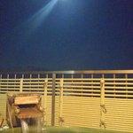 部屋の露天風呂でお月見!