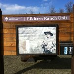 Trailhead to the Elkhorn Ranch site