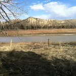 View of Little Missouri River from the Elkhorn Ranch site