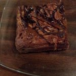 Sea Salt Caramel Brownie on our plate