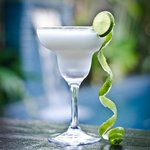 Lime and coconut margarita