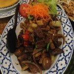 Beef in yellow chilli sauce