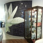 Beautifully tiled accent wall