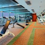 Gym with panoramic seaview
