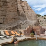 Cliffs overlooking Ojo Caliente