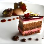 Chocolate Duet. Chocolate Cherry Clafoutis & Chocolate Pistachio