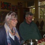 Helen and Peter who own & run the BUNKHOUSE.