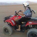 Riding a quad bike in the Sinai Desert at Sharm el Sheikh