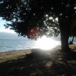 Secluded beach frontage