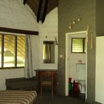 Inside the eco hut